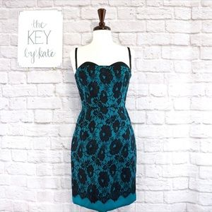 NWT Milly of New York Teal Cocktail Dress